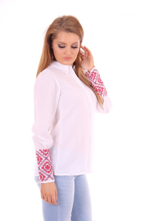 B.loved white blouse embroidered