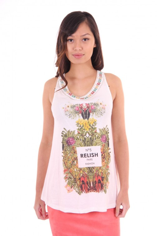 Relish loose-fit top fragrance