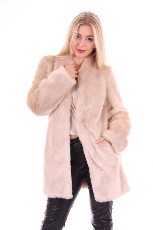 Gaudi fur coat cream