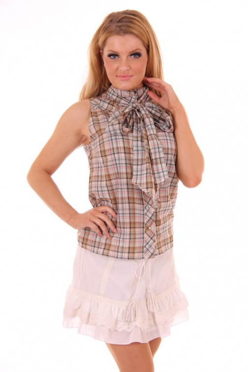 By Danie checkered blouse