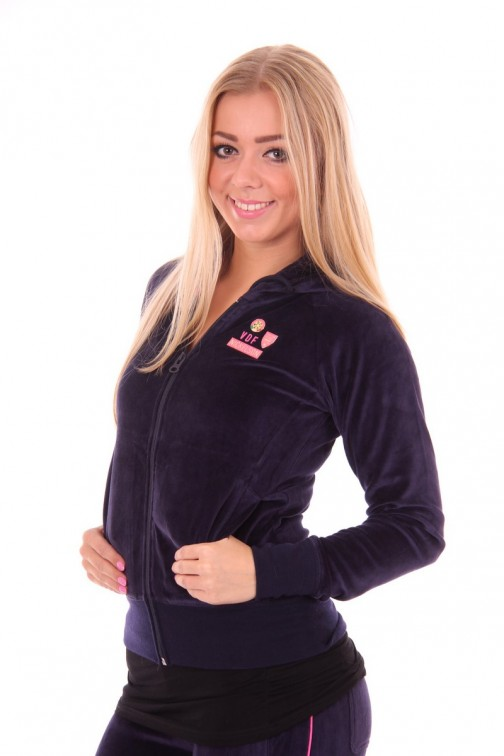 Carly lounge jacket in Navy Blue Nickelson
