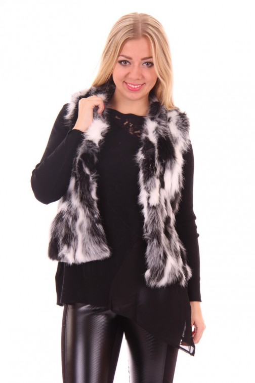 Ibana Bont gilet in Black & White