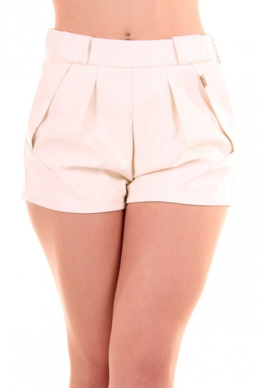 Lianne leren short Josh-V off-white