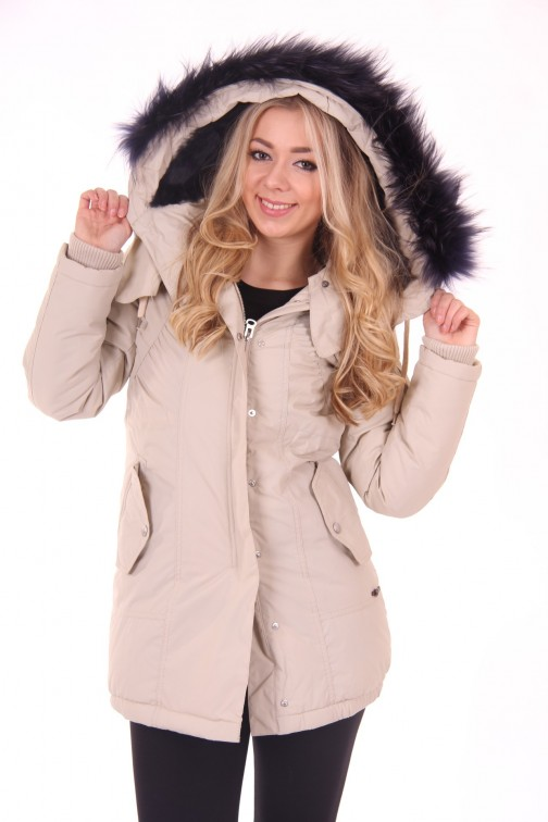 Nickelson Winterjacket in Cream: Isa