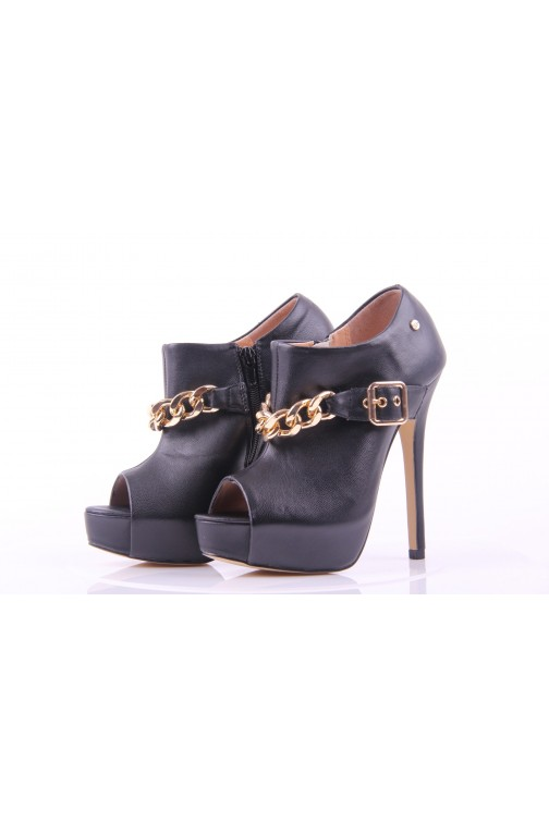 Silvian Heach Ankle boots golden chain