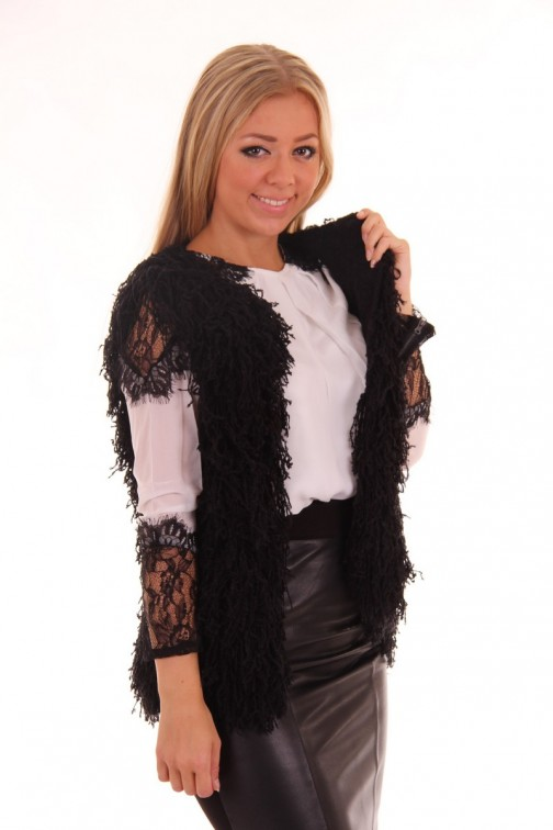 Ibana Rouge Black Como fur Gilet