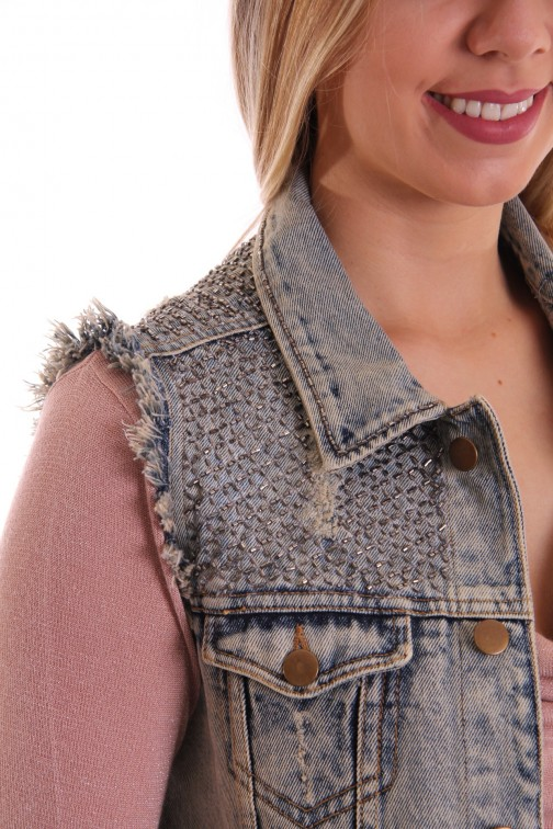 Labee denim gilet AMY