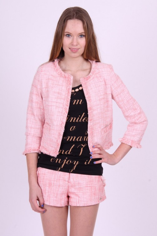 Jacky Luxury shortje in poeder roze