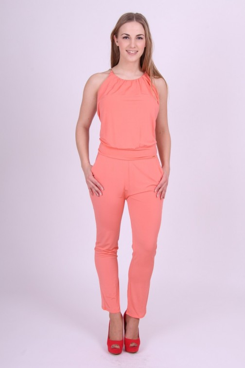 Jumpsuit in soft-Coral Miss Money Money