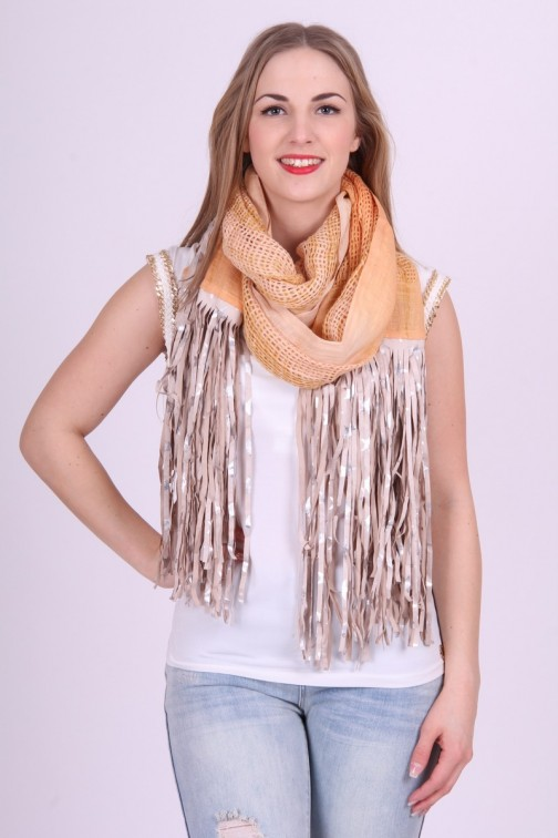 Ibiza chic B-loved Scarf Yellow & Nude