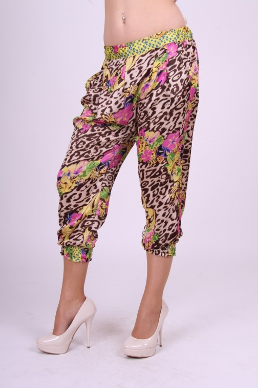Fracomina Animal flower Pants loose-fit