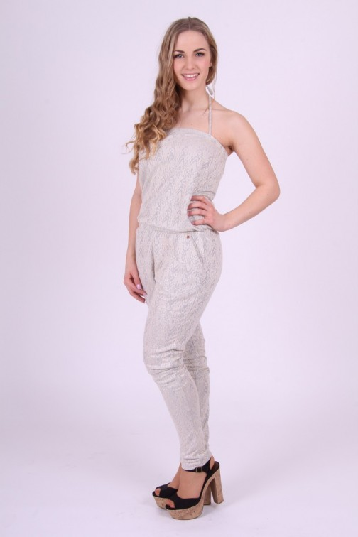 Jumpsuit met kant in Grey&White Given