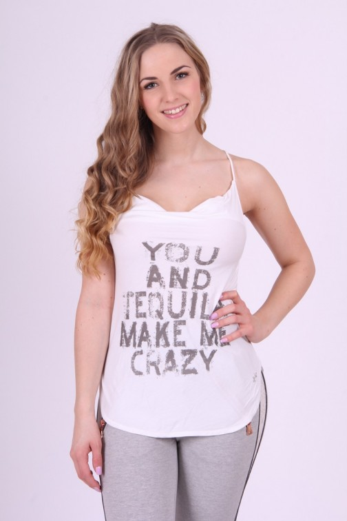 Tequila top in white Jacky Luxury