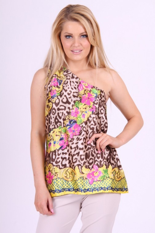 Fracomina animal flower print Top