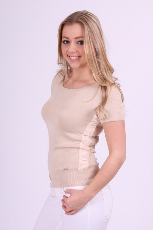 Soft knitted truitje Jacky Luxury in creme