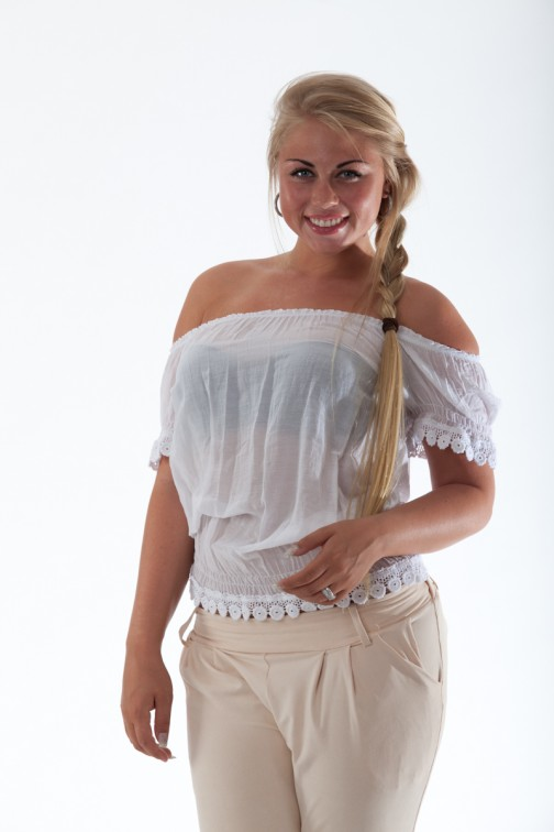 Mogene Ibiza top in white