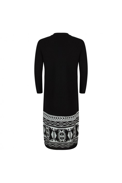 Jacky Luxury cardigan in zwart met wit