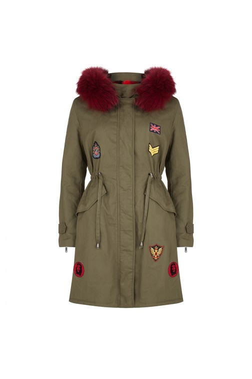 Jacky Luxury limited edition parka met bont