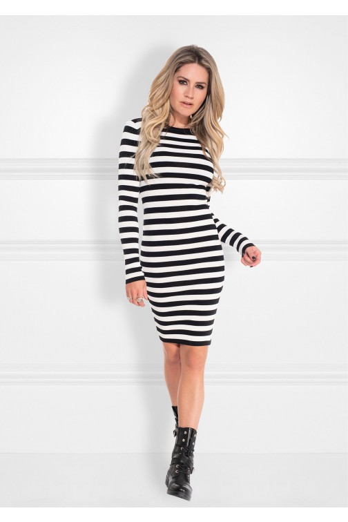 Nikkie Jolie dress in zwart wit