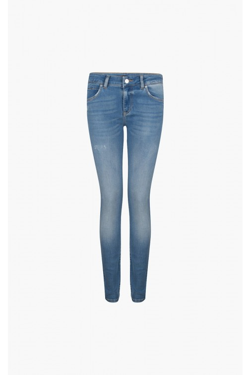 Supertrash jeans in donkerblauw - Sateen