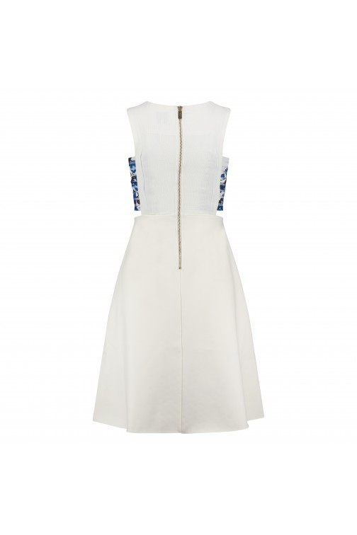 Tailor & Elbaz white cut-out dress