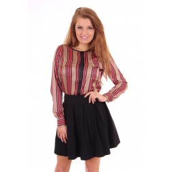 Given satin stripes Blouse