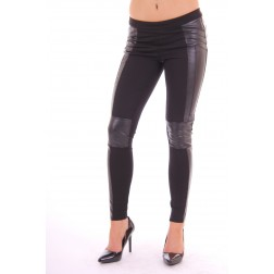 Silvian Heach black leather legging