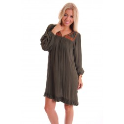 Labee - dress - army green